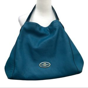 Coach Edie Pebbled Leather Hand Bag